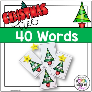 Christmas Tree Sight Word Match