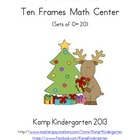 Christmas Tree Ten Frames Math Center