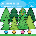 Christmas Trees - Clipart / Graphics From the Pond