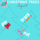 Christmas Trees clipart {digital stamp}
