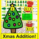 Christmas Math Center Addition Trim A Tree Match - 100 Fac