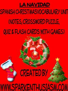 Christmas Vocabulary Lists, Activities, Crossword, Games,