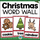 Christmas Vocabulary Word Wall - 24 Illustrated Cards
