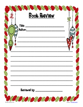 Christmas & Winter Book Review Activity - FREE