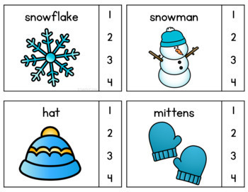 Christmas & Winter Syllable Counting