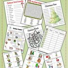 Christmas Word Activity Fun Pack (wordsearch crossword wor