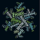 Christmas Word Cloud - Dark Snowflake