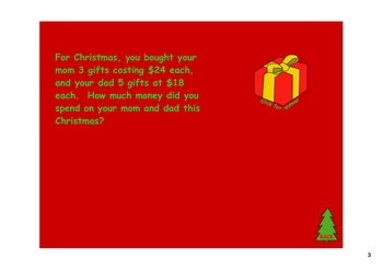 Christmas Word Problems - Whack-A-Mole for your SMARTboard