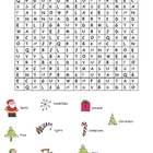 Christmas Word Search - MEDIUM