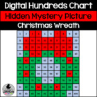 Christmas Wreath Hundreds Chart Hidden Picture Activity for Math