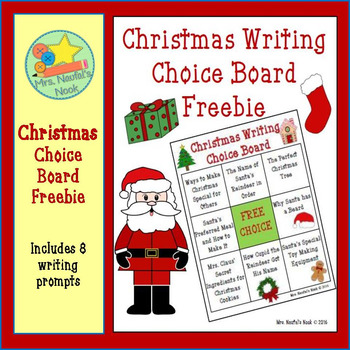 Christmas Writing Choice Board