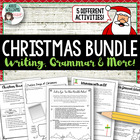 Christmas Writing & Grammar Bundle - 6 different activities!