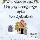 Christmas and Holiday Language Arts Fun Activities