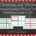 Christmas and Math Number/Picture/Tally Pocket Chart Center