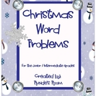 Christmas and Winter Themed Word Problems