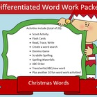 Christmas differentiated spelling packet by SpellingPacket