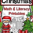 Christmas in Kindergarten! Common Core Christmas Math and