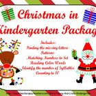 Christmas in Kindergarten Package for ActivBoard