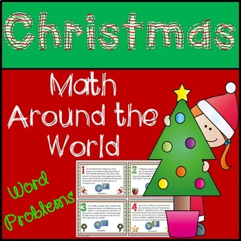 Christmas math:  Christmas Around the World Word Problems