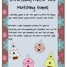 Christmas or Winter ABC matching Game