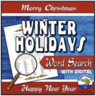 Christmas or Winter Holidays Wordsearch