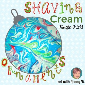 Christmas Ornament Craftivity: Marbleized Paper Ornaments
