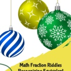 Christmas/Holdiay Fraction Words: Identifying Fractional Parts