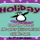 Christmas/Holiday Literacy Activities: Compound Words, ABC