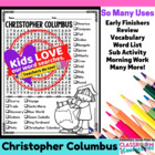 Christopher Columbus - Columbus Day Word Search Activity