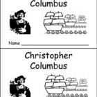 Christopher Columbus Day- Early Reader Kindergarten and Fi