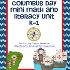 Christopher Columbus Day Mini Math and Literacy ELA Unit