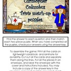 Christopher Columbus Trivia Match-up puzzles.