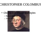 Christopher Columbus, the discovery of America