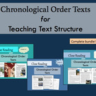 Chronological Order Texts for Teaching Text Structure