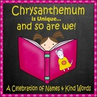 &quot;Chrysanthemum&quot; Back to School Activities