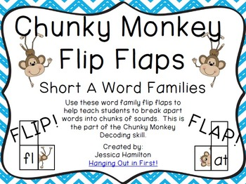 Chunky Monkey Flip Flaps - Short A Word Families