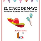 Cinco de mayo vocabulary, activities, and bulletin board set