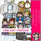 Cinderella LINE ART bundle by melonheadz