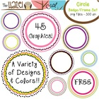 FREE Circle Badge Set: Graphics for Teachers