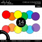 Circle Counters {Graphics for Commercial Use}