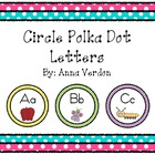 Circle Polka Dot Alphabet