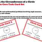 Circles Finding Circumference Geometry Task Cards