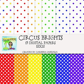 Circus Brights Digital Papers