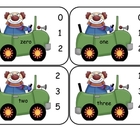 Circus Clown Number Word Clip Cards