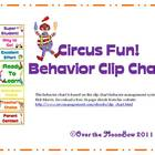 Circus Fun Behavior Clip Chart