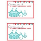 Circus Postcard - Freebie!
