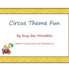 Circus Theme Fun - Reading Math Science