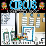 Circus Themed Editable Classroom Pack