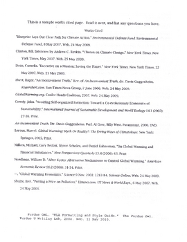 Citation Review Worksheet (MLA formating)