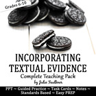 Citing Textual Evidence -Writing Skills Lesson Pack with L